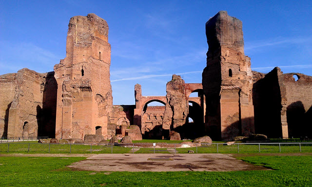 Baths of Caracalla located in Rome
