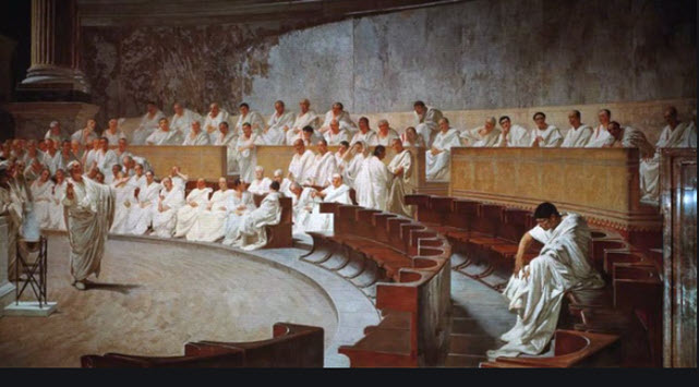 Domitian with Senate and Officials
