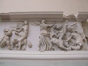 Greek Titaness Phoebe with other Titans