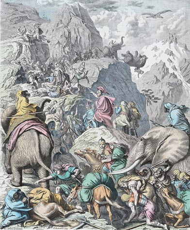 Hannibal-along-with-his-troop-crossing-the-Alps