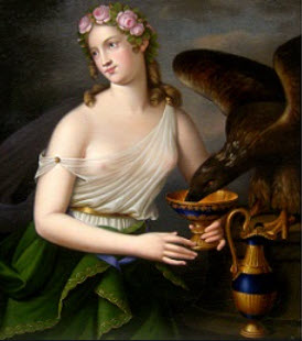 Hebe with her sacred Eagle and Wine cup