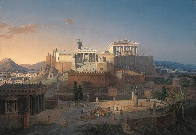 The Acropolis of the City of Athens by Leo von Klenze