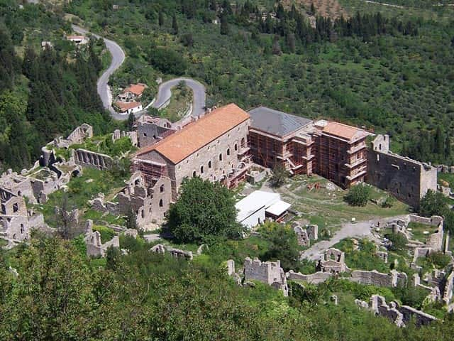 The Palace of the city of Mystras