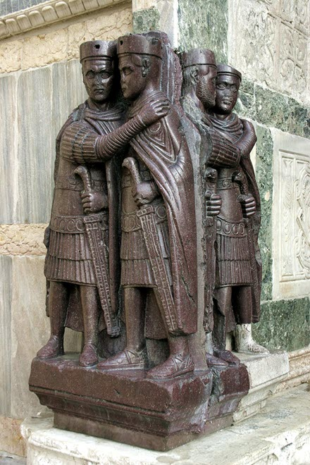 The Tetrarchy instituted by Diocletian