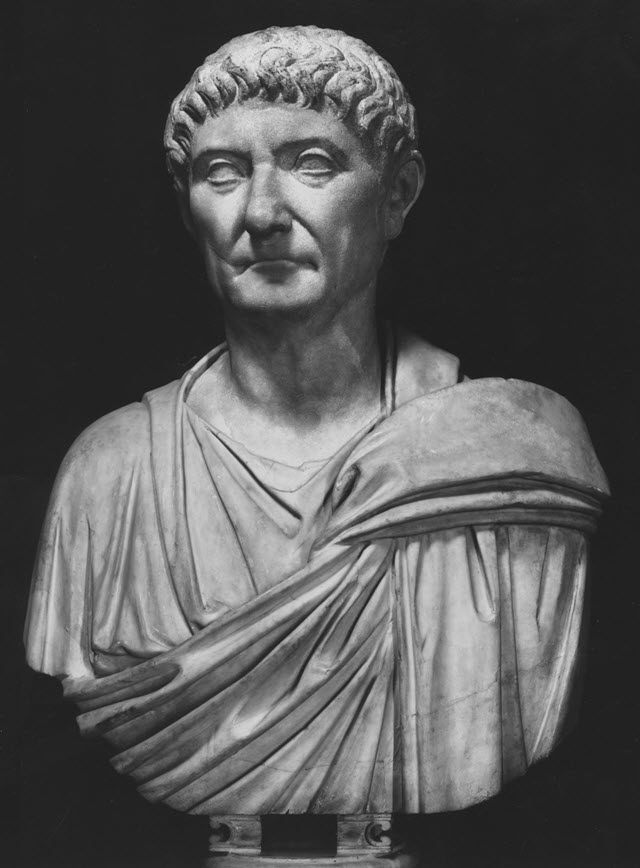 The bust of Diocletian