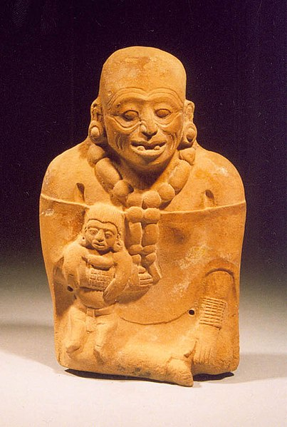 Mayan Sculpted Mother With a Child