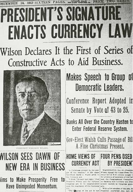 A news article regarding the Federal Reserve System