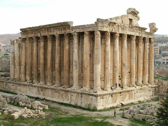 A photo of the Temple of Bacchus