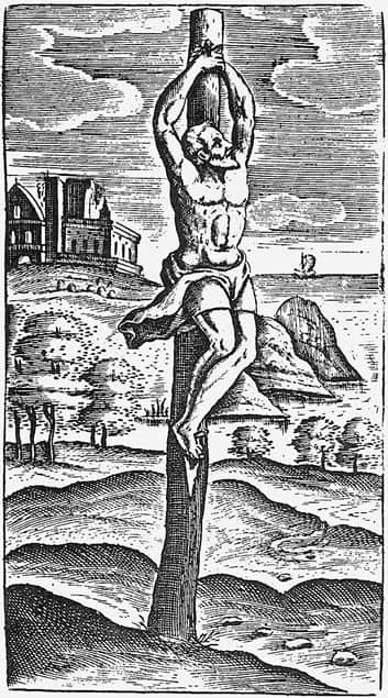A picture depicting Crucifixion in Ancient Rome