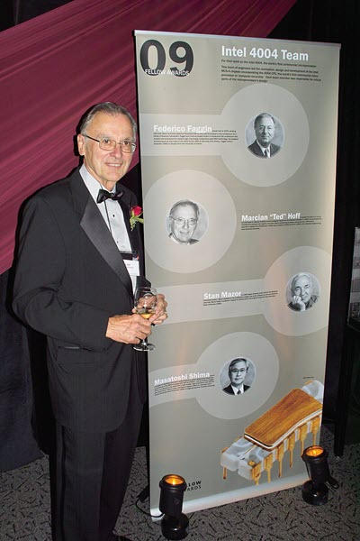 A picture of Marcian Edward Hoff taken in 2009 at the Computer History Museum Fellow Award event