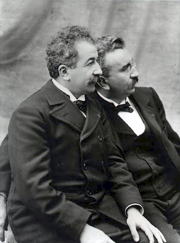 A picture of Nicholas and Louis Lumiere - the Lumiere brothers