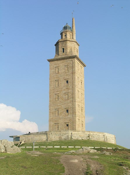 A picture of the Tower of Hercules located on Coruna, Galicia, Spain