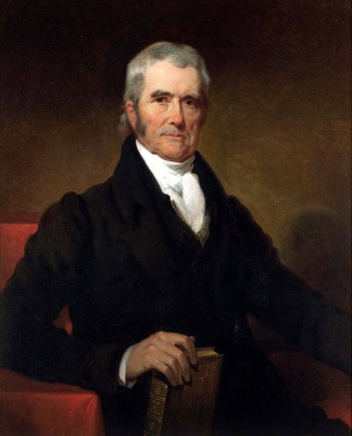 A portrait of John Marshall, chief justice