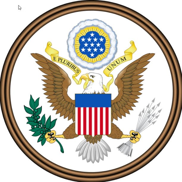 A portrait of obverse of the Great Seal of the U.S