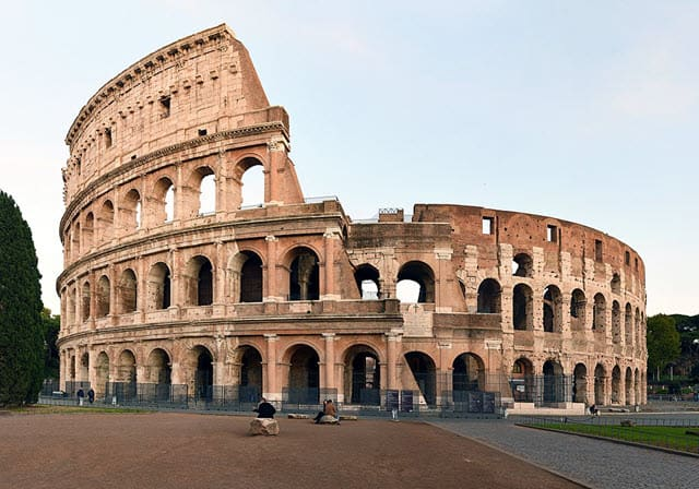 A recent photo of the Colosseum taken in 2020