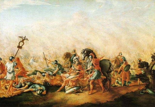 An action during the Battle of Cannae