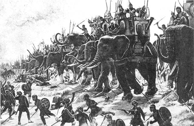 An image during the Battle of Zama