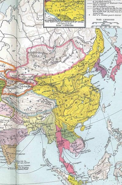 Map of Ming China in 1415