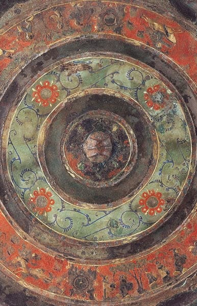 Painted designs depicting the artwork of Han Dynasty