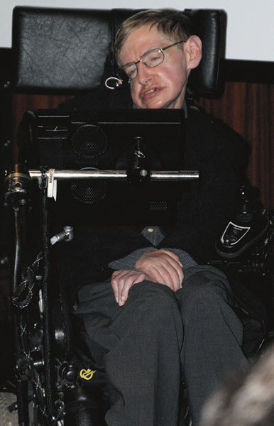 A recent picture of Stephen Hawking at Bibliotheque Nationale de France