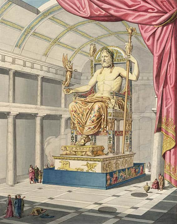 Statues of Zeus at Olympia