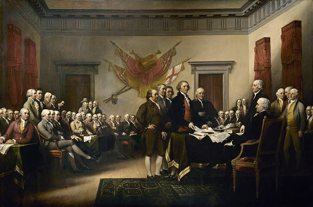 The five committee members including John Adams responsible for the Independence