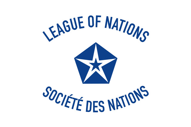 The flag of the League of Nations - 1920