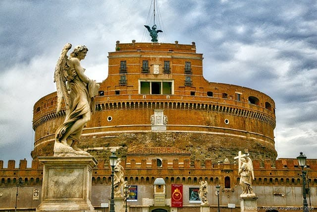 The picture of Mausoleum of Hadrian also known as Castel Sant'Angelo