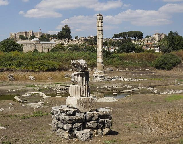 The site of the Temple of Artemis in 2017