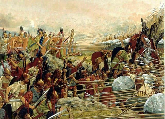 the Battle of Pydna - 168 BC