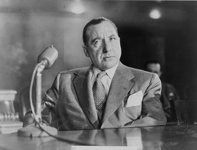 A picture of Frank Costello - an American mobster