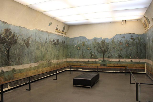 A photo of the Fresco Wall from the House of Livia
