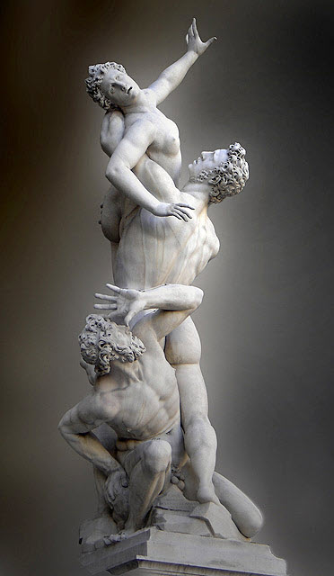 A portrait depicting the abduction of the Sabine Woman
