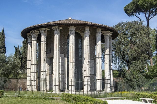A picture of the Temple of Hercules Victor