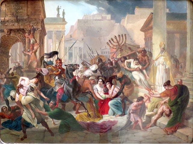 A-violent-scene-against-the-weak-in-ancient-Rome