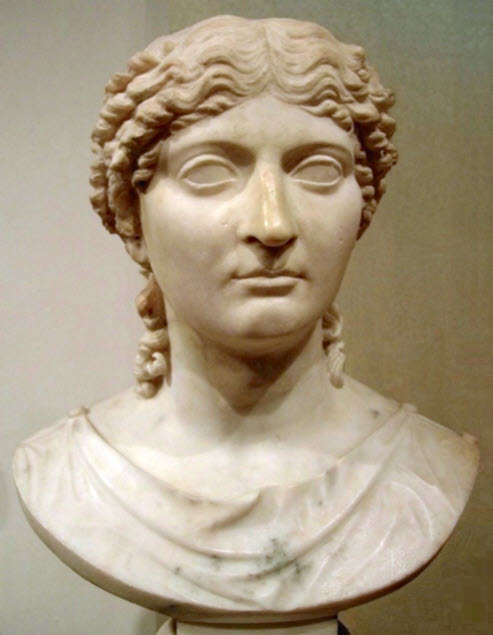 A white bust of Agrippina the Younger
