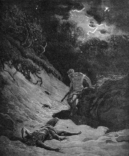 An illustration depicting an act of fratricide