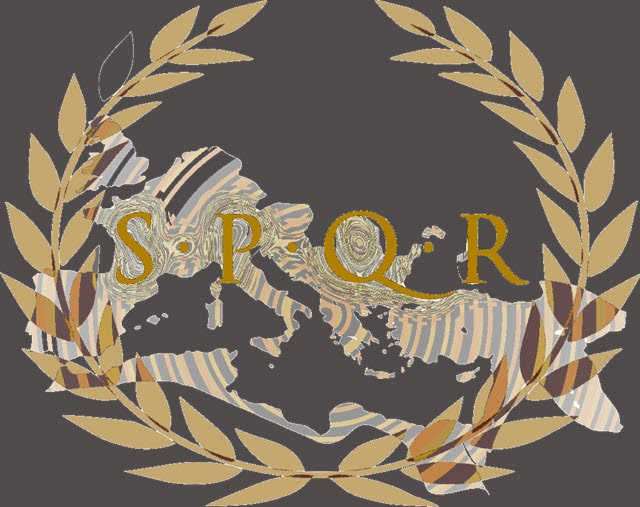 An image of one of the emblem of the Roman Republic - SPQR