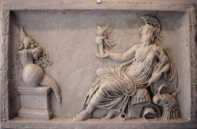 One of the images of ancient Rome depicting a religious victory