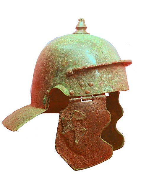 One of the types of Roman Imperial Gallic Helmets