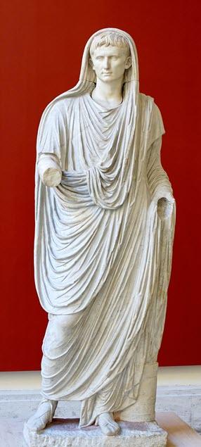 Roman Emperor Augustus as one of the Roman deity