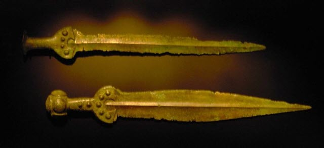 A photo of apa-type swords of 17th Century BC