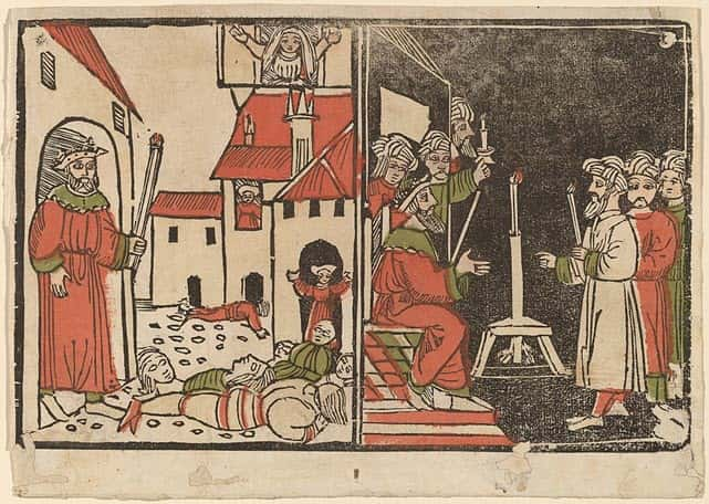 A scene depicting the Egyptian plague - the invasion of wild beasts