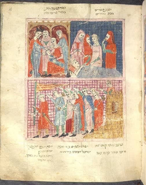 A scene depicting the death of the first-born
