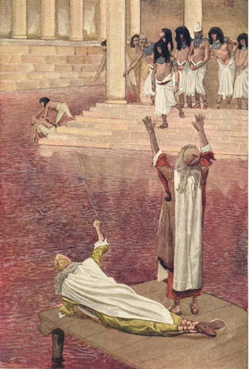 A-scene-depicting-the-first-plague-the-blood-river
