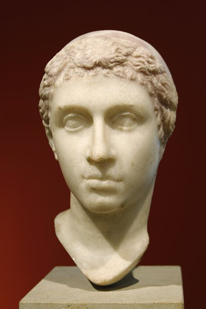 A-white-bust-of-Cleopatra-VII