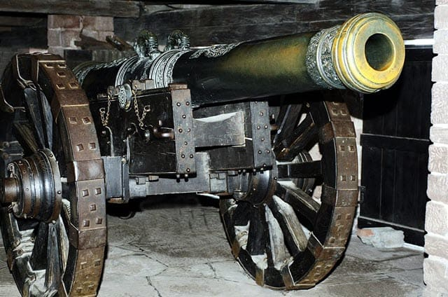 An image of Cannone with gunpowder