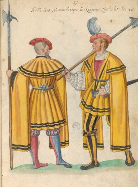 An image of soldiers holding Medieval Weapon Halberd