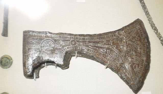 An image of the head of Medieval weapon battle axe